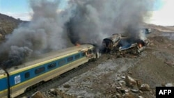 The November 25 collision in the northern province of Semnan was one of Iran's worst rail disasters ever.