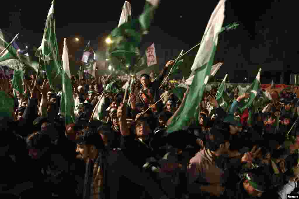 Supporters in Islamabad.