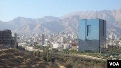 نمایی از ساختمان بانکمرکزی ایران در شمال تهران