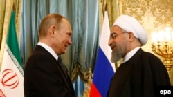 Russian President Vladimir Putin meets with Iranian President Hassan Rouhani at the Kremlin in Moscow, March 28, 2017