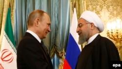 Президент России Владимир Путин и президент Ирана Хасан Рохани