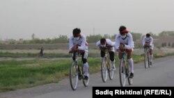 آرشیف، مسابقه بایسکلرانی در ولایت کندهار. (عکس جنبه تزئینی دارد.)