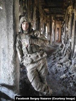 Євген Поляков «Поляк», солдат 93-ї окремої механізованої бригади. Вежа Донецького аеропорту. Січень 2015 року