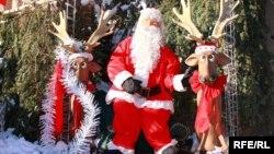Декорации рождественского Нью-Йорка