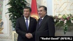 Эмомали Рахмон и Сооронбай Жээнбеков, Душанбе, 1 февраля 2018 года