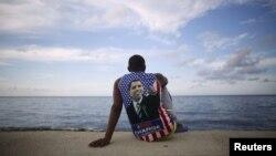 Гавана, набережна Малекон навпроти посольства США на Кубі, фото 14 серпня 2015 року