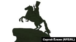 Политическая карикатура на решение назвать мост в Петербурге в честь Ахмата Кадырова