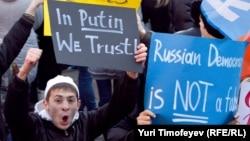 """На митинге сторонников """"Единой России"""", 12 декабря 2011"""