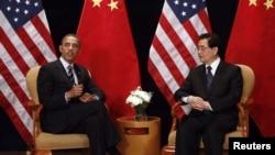 Barack Obama și președintele chinez Hu Jintao
