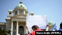 Protest u Beogradu protiv sporazuma, 26. april 2013.