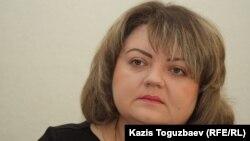 Қазақстандағы адам құқығы бюросы қызметкері Мария Расулова. Алматы, 13 ақпан 2014 жыл.