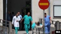 Повредени од Куманово пренесени на Ургентен во Скопје