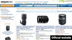 Энг йирик онлайн дўкон Amazon сайти.
