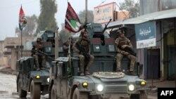 نیروهای حامی حکومت عراق در مناطق شرقی موصل
