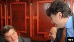 Predsednički kandidati Gjorge Ivanov i Ljubomir Frčkovski