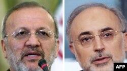 Иран - Өлкөнүн кызматтан алынган тышкы иштер министри Манучехр Моттаки жана анын ордуна дайындалган Али Акбар Салехи (оңдо).
