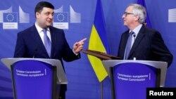 Եվրահանձնաժողովի նախագահի և Ուկրաինայի վարչապետի համատեղ ասուլիսը Բրյուսելում, 10-ը փետրվարի, 2017թ․