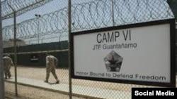 Тюрьма на американской военной базе Гуантанамо, Куба.