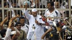 Один из лидеров индийского антикоррупционного движения Анна Хазаре