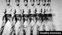 Cei opt Elvis ai lui Andy Warhol, 1963.