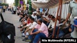 جانب من إعتصام المعلمين في القاهرة