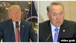 Қазақстан президенті Нұрсұлтан Назарбаев пен АҚШ президенті Дональд Трамп.