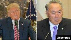 Президенти США та Казахстану Дональд Трамп (л) та Нурсултан Назарбаєв