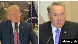 Президент США Дональд Трамп (слева) и президент Казахстана Нурсултан Назарбаев.