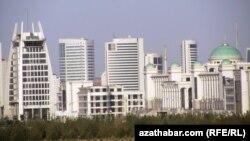 Տեսարան Թուրքմենստանի մայրաքաղաք Աշբագատից