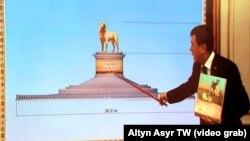 Prezident Berdimuhamedowyň duşenbe güni geçiren iş maslahatynda türkmen alabaýynyň Aşgabatda dikiljek heýkeline täzeden garaldy.