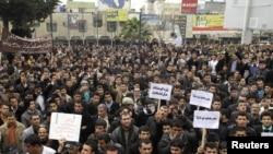 جانب من تظاهرة الإحتجاج في السليمانية