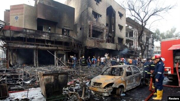 Mjesto eksplozije u Bagdadu