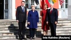 Էստոնիա - Բալթյան երկրների նախագահները ԱՄՆ փոխնախագահի հետ, Տալլին, 31-ը հուլիսի, 2017թ․