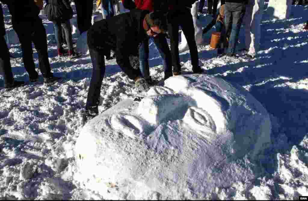 جشنواره آدم برفی و ساخت سازههای برفی در اردبیل