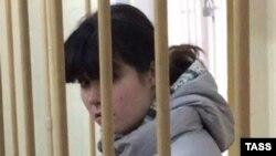 واروارا کارالووا در دادگاه (مسکو)