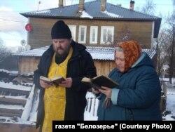 Молебен в Белозерске