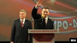 Предизборен митинг на претседателот Ѓорге Иванов и ВМРО-ДПМНЕ во Охрид.