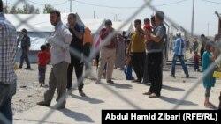 جانب من مخيم بحركة للنازحين قرب اربيل