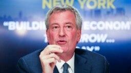 Kryetari i qytetit të Nju Jorkut, Bill de Blasio.