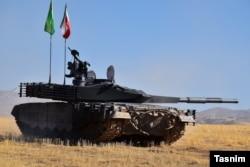 Një tank i modelit Karrar.
