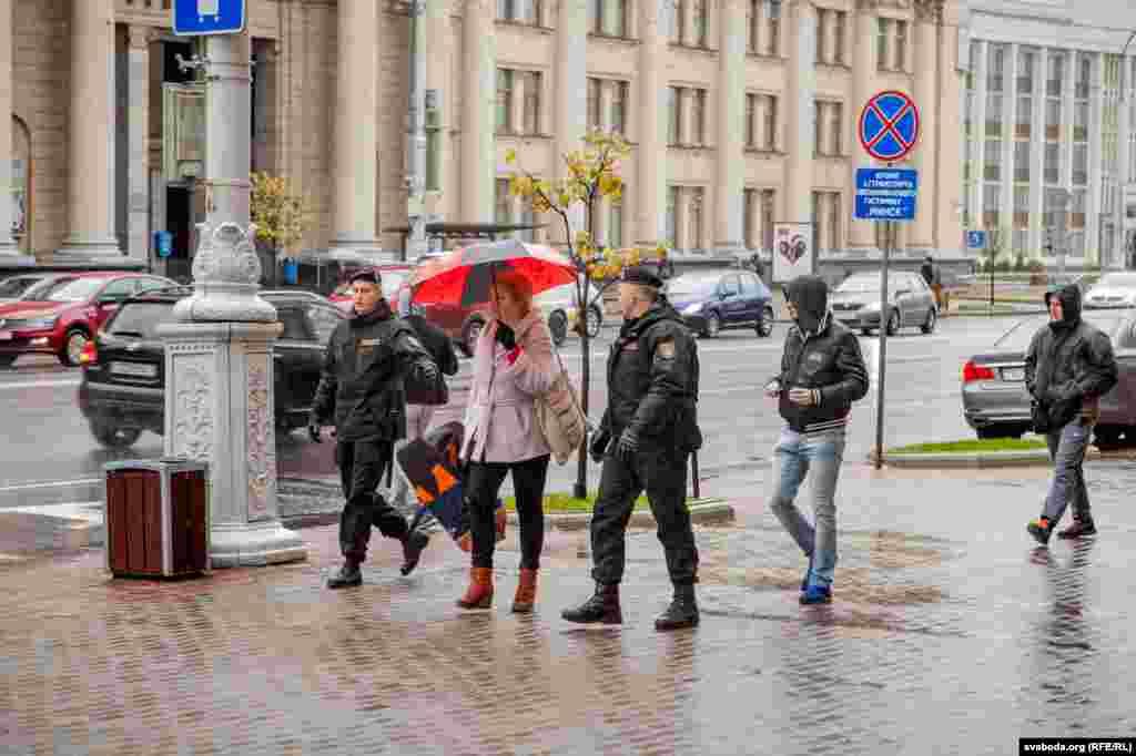 Пасьля маршу была затрыманыя рэжысэрка Вольга Нікалайчык