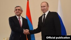 Russia - Presidents Vladimir Putin and Serzh Sargsyan meet in Saint Petersburg, 20 Jun2016