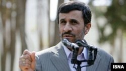 Iran -- Iranian President Mahmud Ahmadinejad speaks during a media conference, Undated