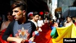 Sa okupljanja koje su turski LGBT aktivisti pokušali da održe 19. juna 2016.