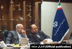 وزیر کنونی و پیشین صنعت؛ محمد شریعتمداری و محمدرضا نعمتزاده