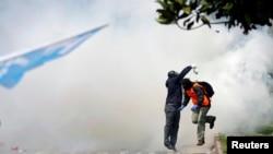 Турецька поліція застосувала сльозогінний газ і водомети, 1 травня 2016 року