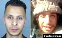 Abdeslam Salah (left) and Abdelhamid Abaaoud