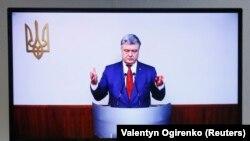 Допрос Петра Порошенко по видеосвязи на суде по делу о госизмене Виктора Януковича.