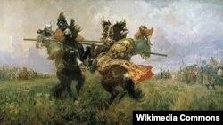Оьрсийчоь -- Пересветан а, Челубейн а латар, Авилов Михаила диллина сурт.