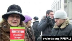 Вулічная акцыя «Жанчын супраць беззаконьня ў судах і пракуратуры» 6 сьнежня.